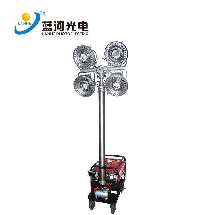 LED移動救援升降發電式投光燈-LH-YFDS600W04